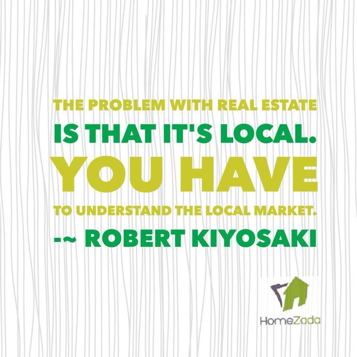 The problem with real estate is that it\u0027s local You have to
