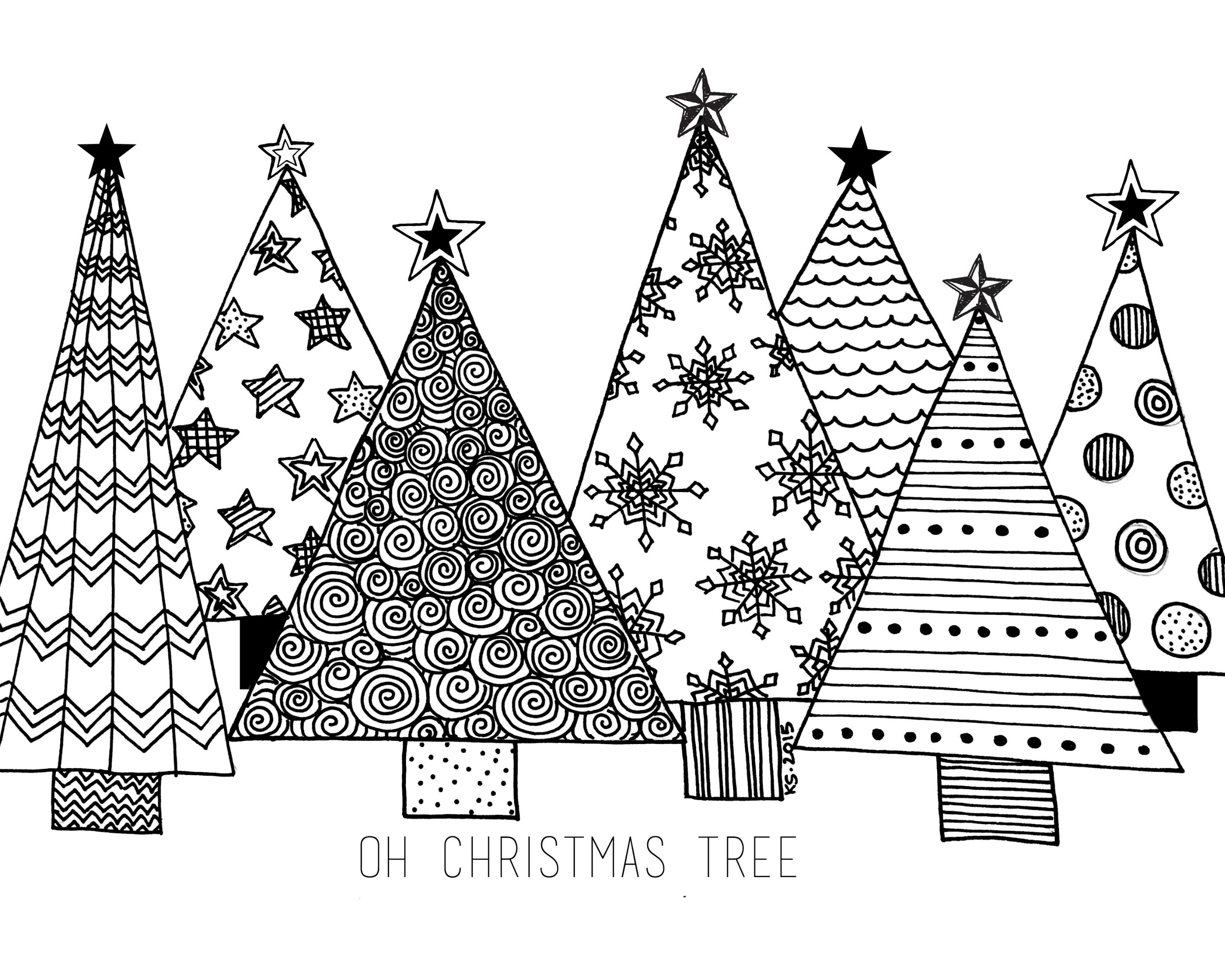 Christmas Tree Coloring Pages | Christmas coloring pages ... | 2400x3000