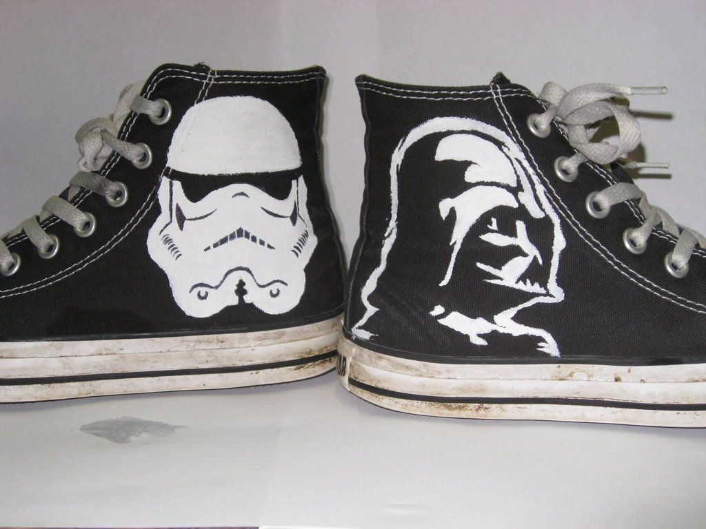 Sharpie Drawings On Converse | Star Wars Converse by