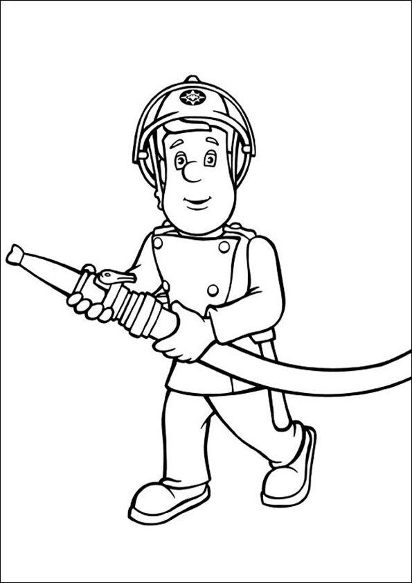 feuerwehrmann sam zum ausmalen 2  ausmalbilder