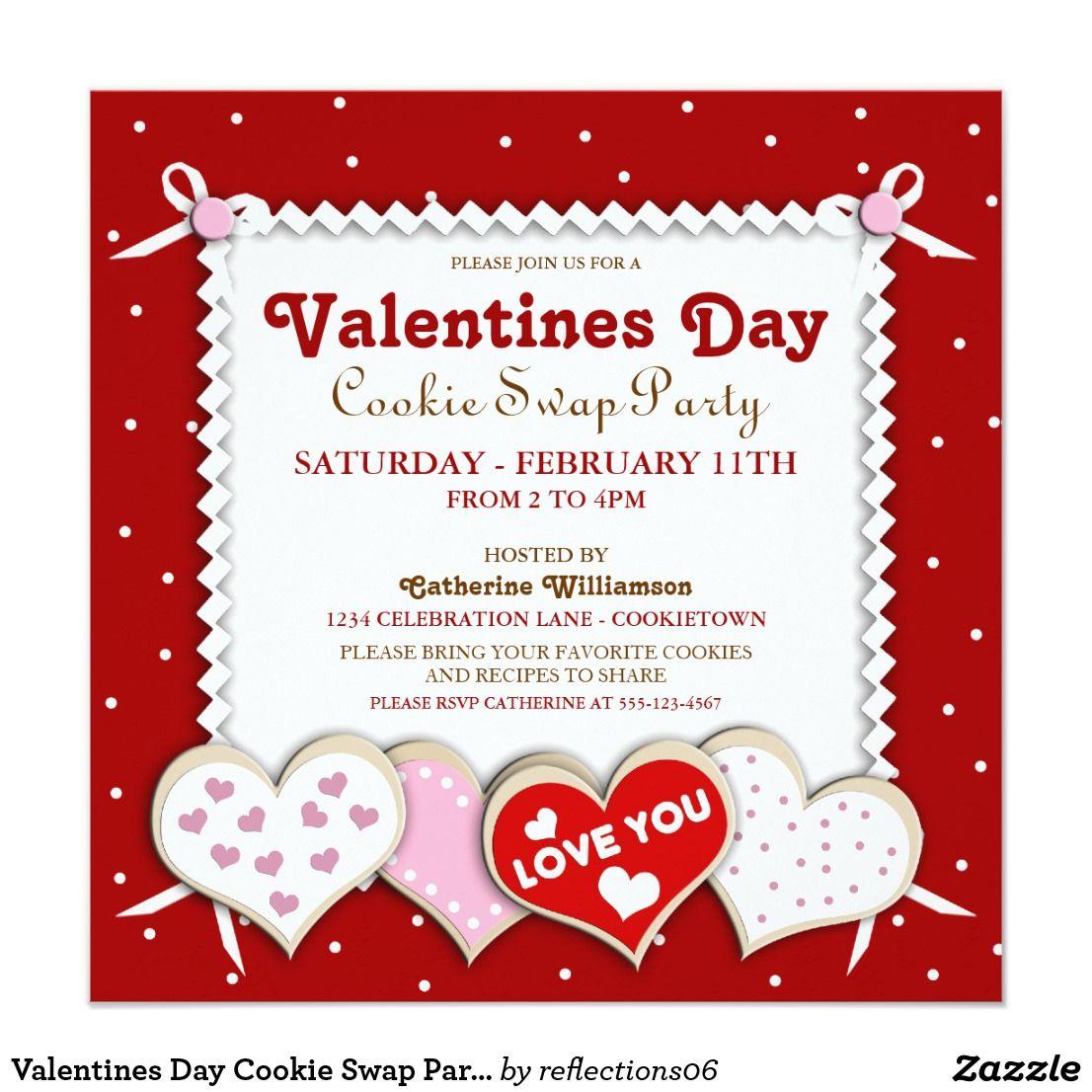 Valentines Day Cookie Swap Party Invitation | EVERYTHING Valentine\'s ...