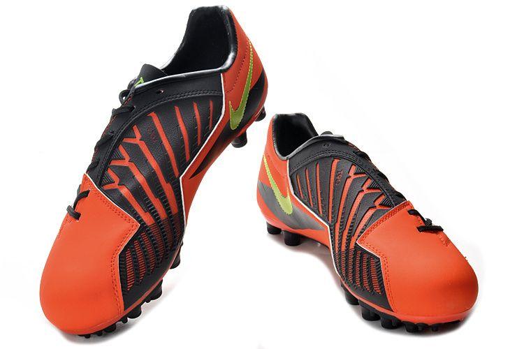 Chaussures De Foot Nike T90 Shoot Iv Ag Orange Noir Pas Cher