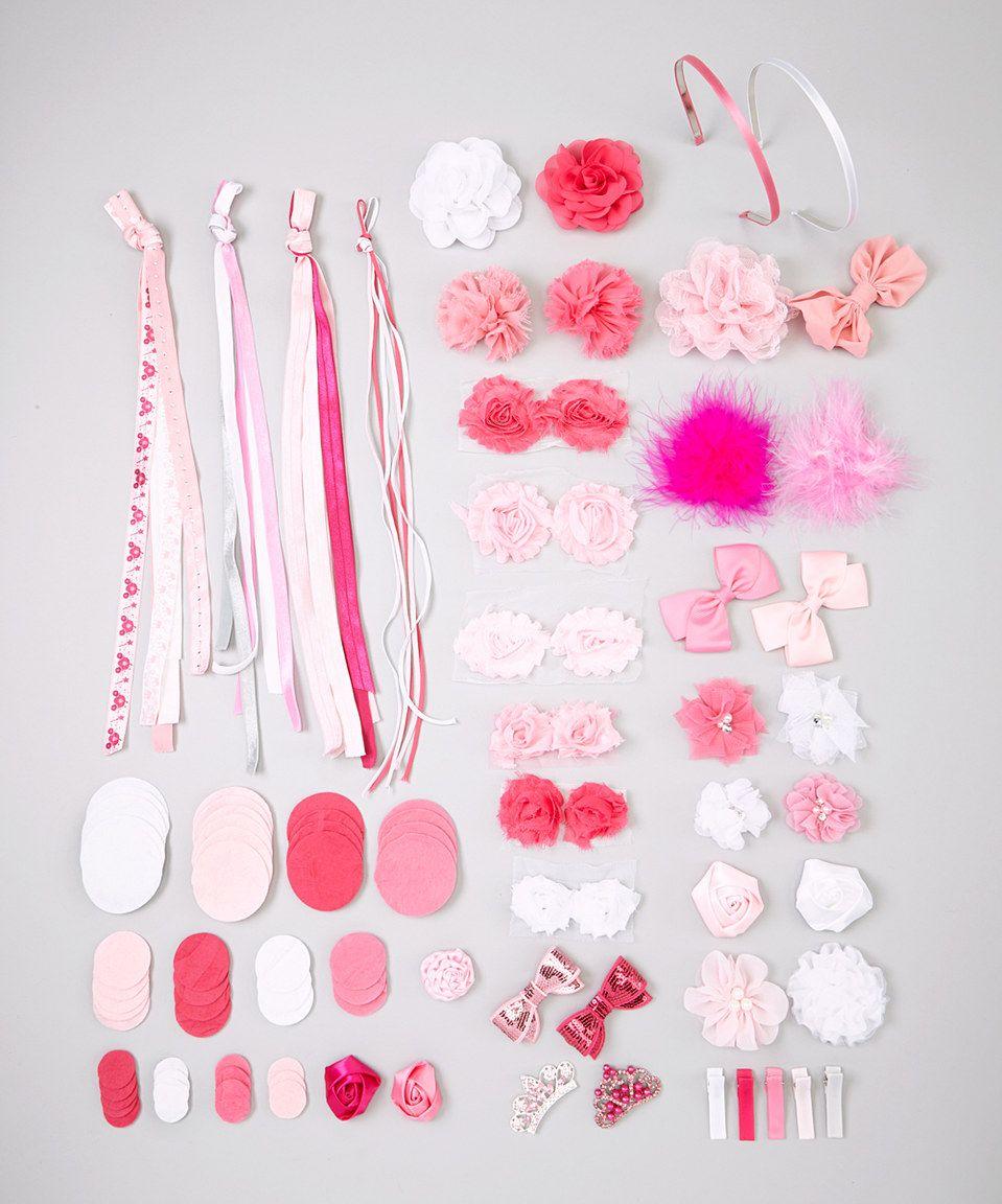 My Sunshine Shoppe Pink Princess Half Pint Hair Accessory Kit by My Sunshine Shoppe #zulily #zulilyfinds