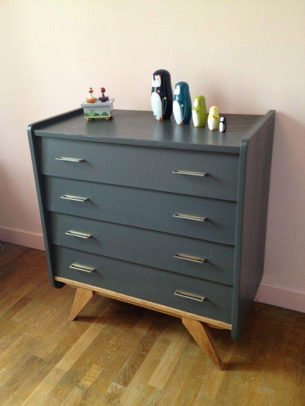 Pingl par yasin y lmaz sur mobilier de salon commode grise et relooking meuble - Chambre parentale grise ...