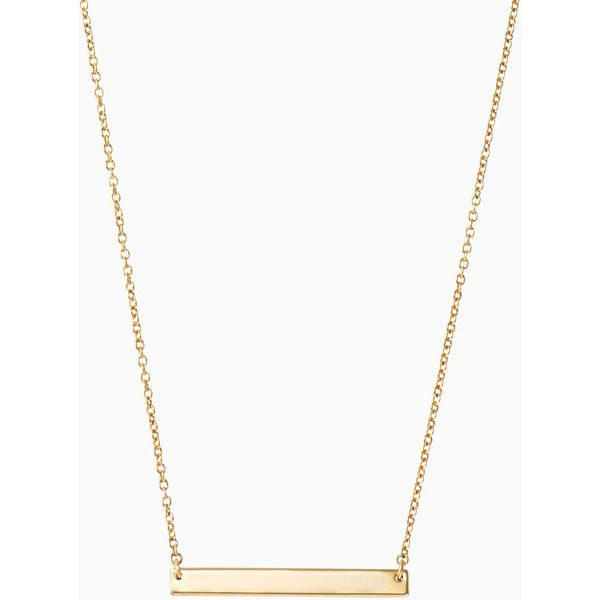 Stella & Dot Signature Engravable Delicate Necklace ($69) ❤ liked on Polyvore featuring jewelry, necklaces, engraved necklaces, letter jewelry, initial jewelry, engraving necklaces and engraved jewelry