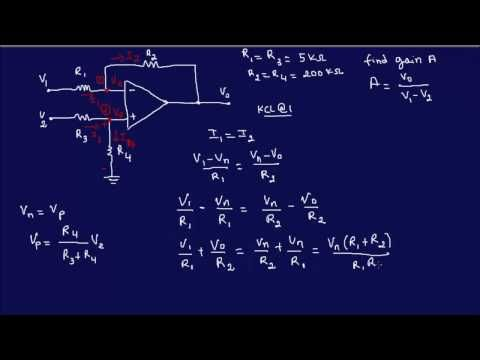 opamp circuit analysis example 5 fe eit review youtube ic741 inopamp circuit analysis example 5 fe eit review youtube