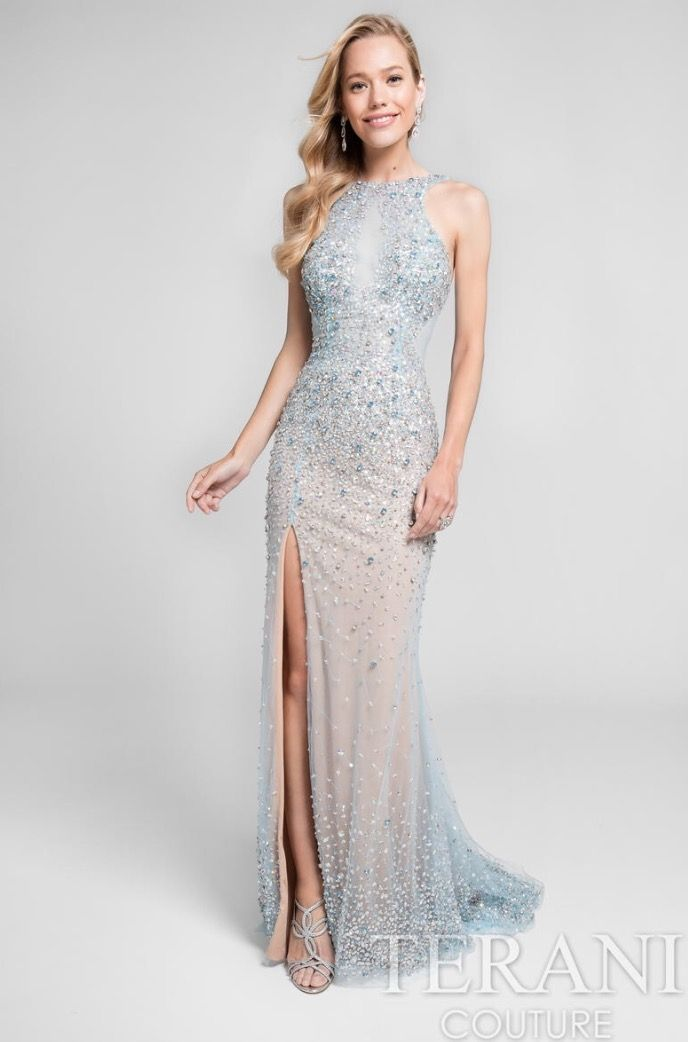 Beautiful prom dress covered in sparkles. Terani Couture mint dress ...