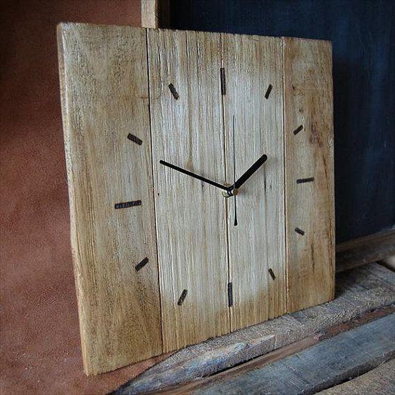pallet wood clock approx size 70cm x 70cm  handmade