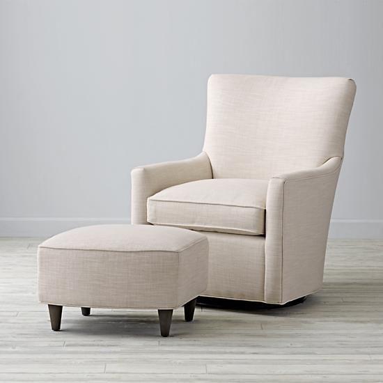 Marvelous Toby Swivel Glider Ottoman Devote Cream The Land Of Beatyapartments Chair Design Images Beatyapartmentscom