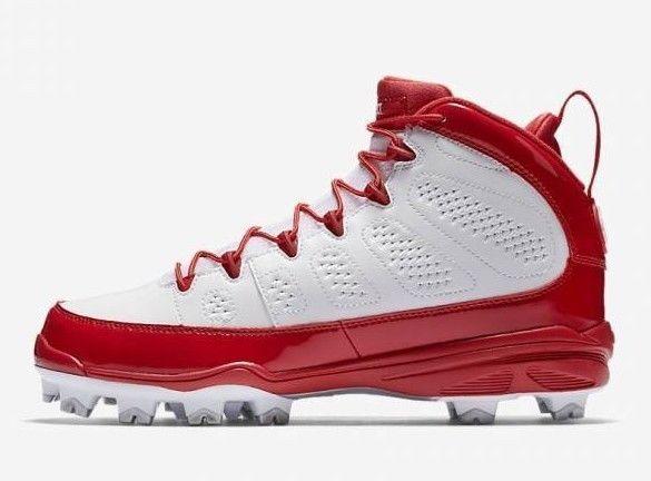 Air Jordan Mens IX RETRO MCS Baseball Cleat Red/White AA1264-601 c
