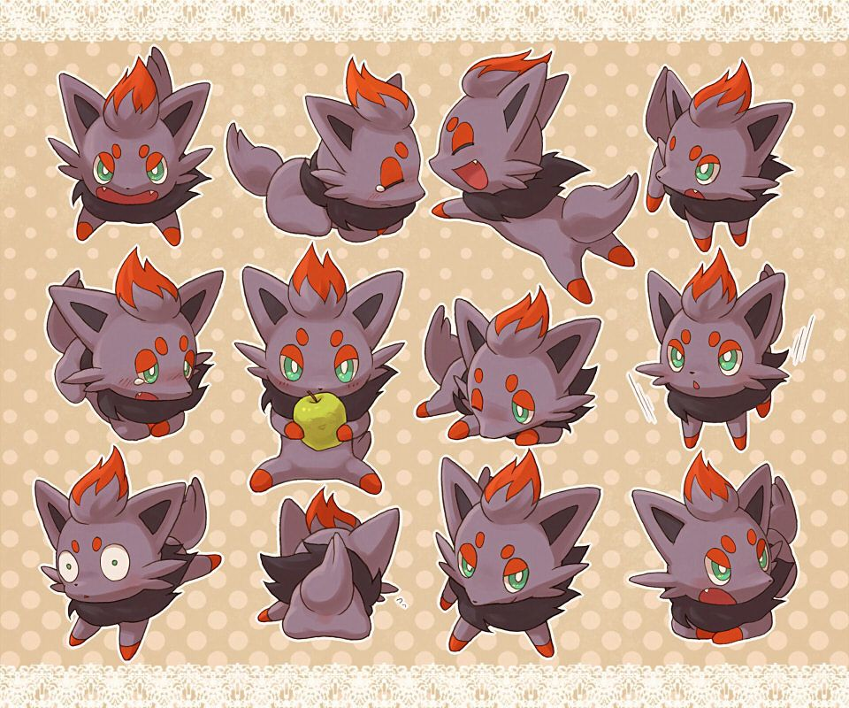 cute little zorua so cute Покемон pinterest pokémon