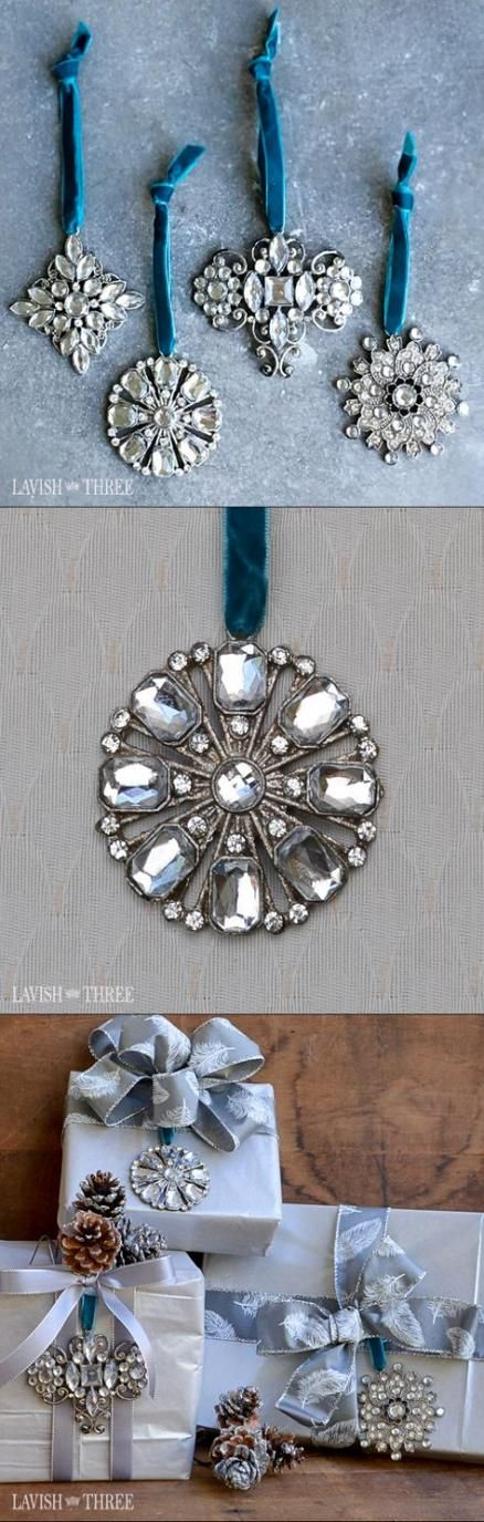 32  Ideas For Vintage Jewelry Diy Projects Christmas Ornament #diy #vintage