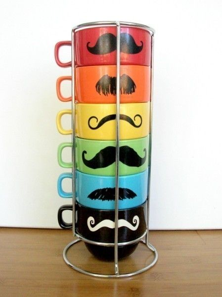 Mustache Mug Set