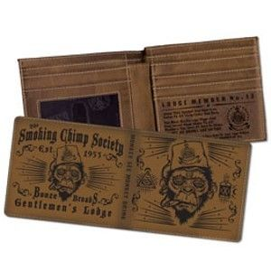 Smoking Chimp Billfold Wallet by Lucky 13