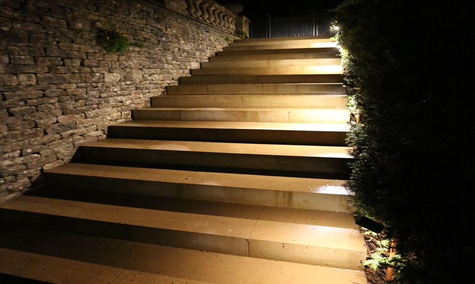 Hunza border lights in copper were used to illuminate the steps in hunza border lights in copper were used to illuminate the steps in this photo aloadofball Choice Image