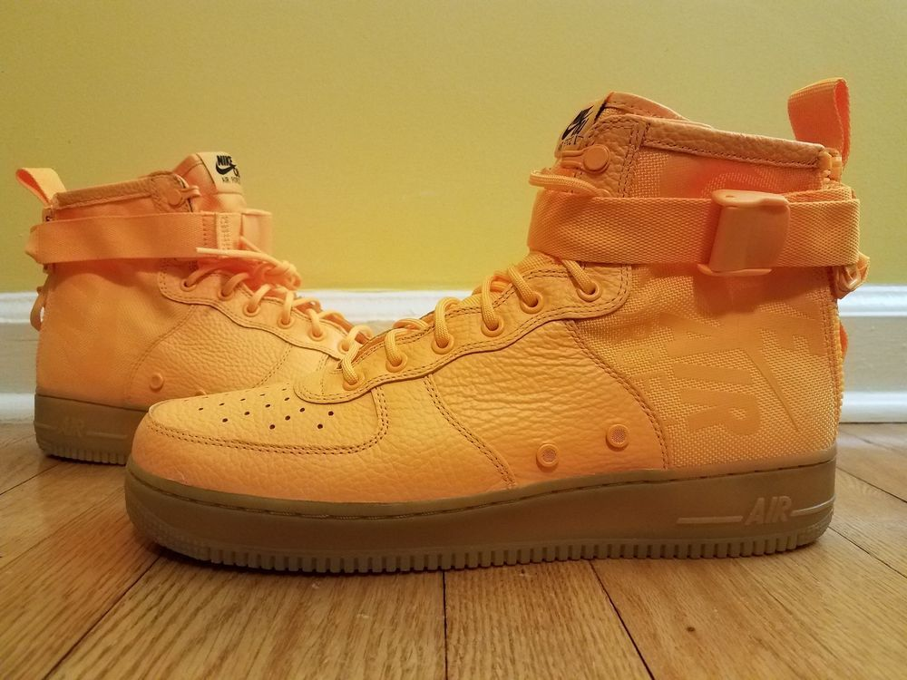 sale retailer c2ce4 fc3ca Nike SF Air Force 1 Mid Odell Beckham AF1 NEW Laser Orange 917753-801 Size  12   Ebay Sales   Pinterest   Air force 1 mid, Beckham and Nike