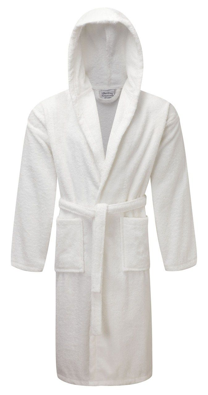 Egyptian Collection Luxury Towelling Dressing Gown - Hooded ...