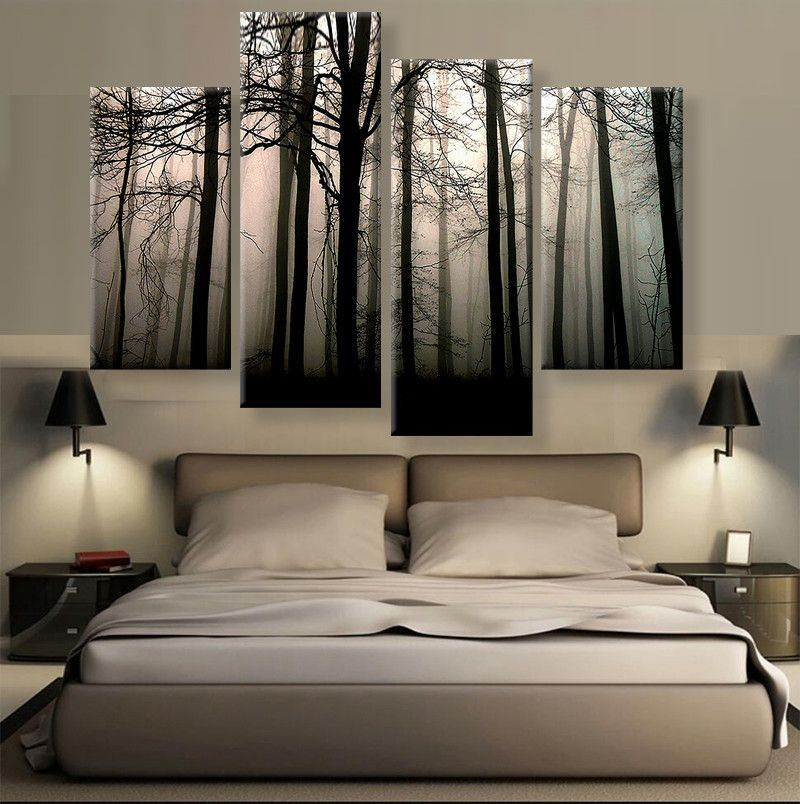 Calm Forest Trees Master Bedroom Wall Art Wall Decor Bedroom Bedroom Wall
