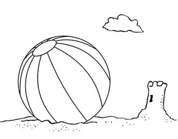 Beach Vacation Lets Play With A Beach Ball Coloring Page
