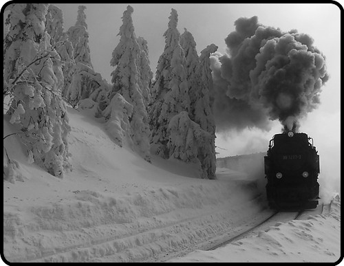 Snow and the train