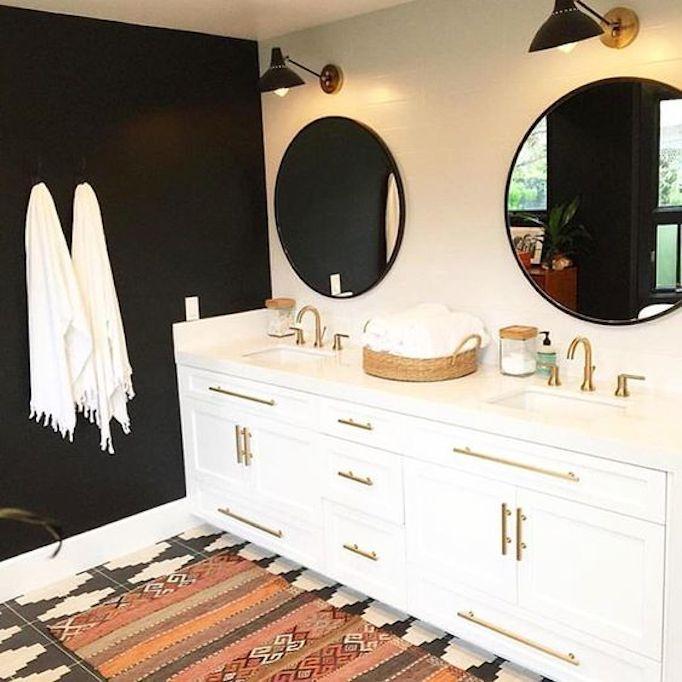 Dark Accent Wall Behind Vanity: 6 Inspiring Bathrooms - Pinterest Favorites