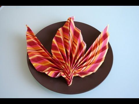 servietten falten ahornblatt napkin folding maple leaf youtube ide pinterest napkins. Black Bedroom Furniture Sets. Home Design Ideas