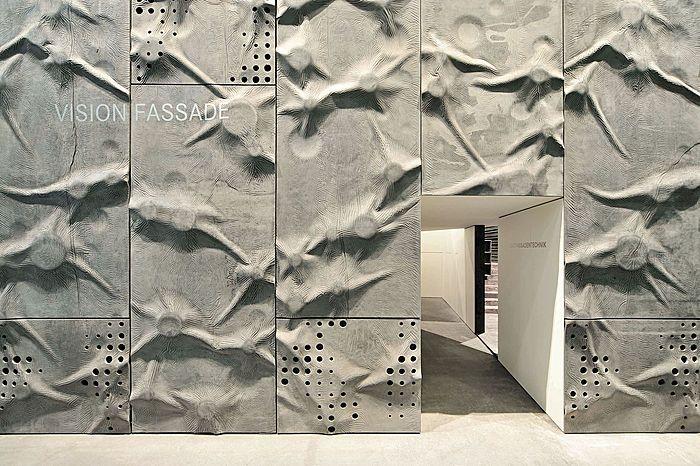 concrete like crumpled paper
