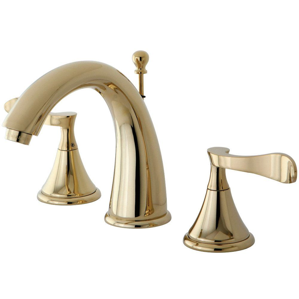 Kingston Brass Ks2972cfl 8 In Widespread Bathroom Faucet Polished Brass Kingston Brass In 2020 Bathroom Faucets Widespread Bathroom Faucet Lavatory Faucet
