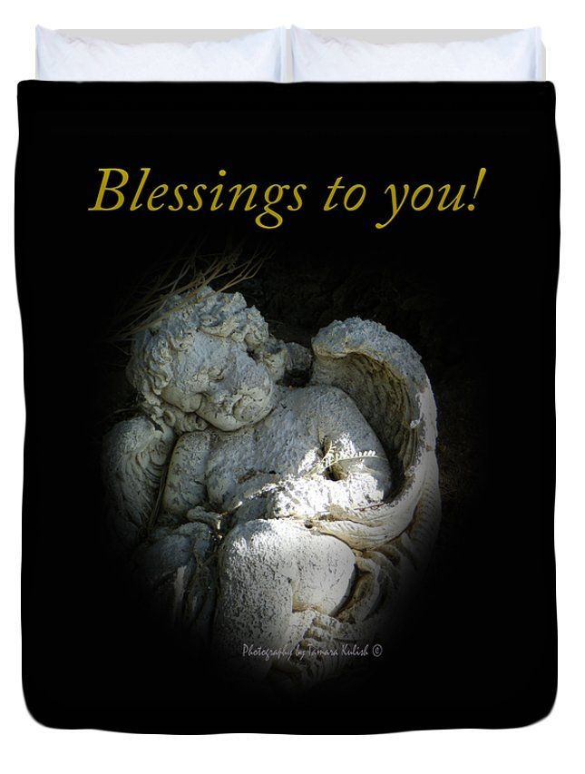 "Sleeping Cherub 1 Blessings to you Queen (88"" x 88"") Duvet Cover by Tamara Kulish"