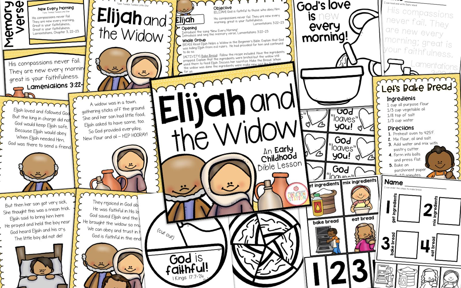 Elijah And The Widow Bible Lesson