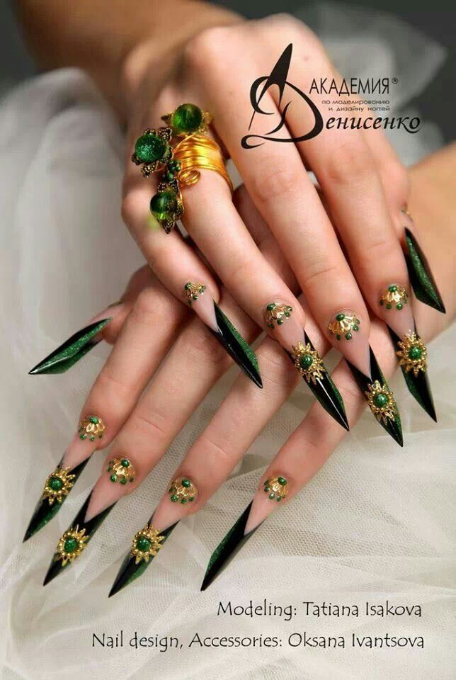 In Love These Nails But Not To Crazy About The Embellishments Near