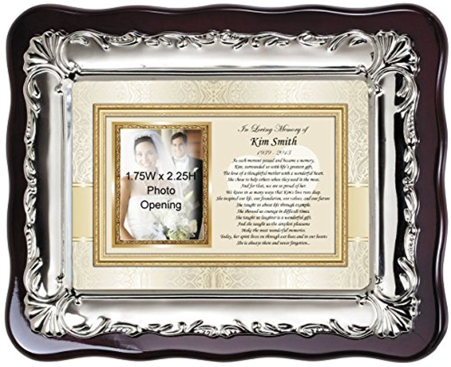Personalized Picture Frame Memorial Sympathy Photo Plaque ...