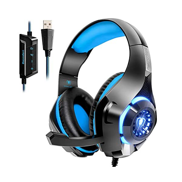 Beexcellent Usb Gaming Headset For Pc 71 Surround Sound Computer Gaming Headphones Pc Headset With Noise Canceling Mic Headset Gaming Headset Gaming Headphones