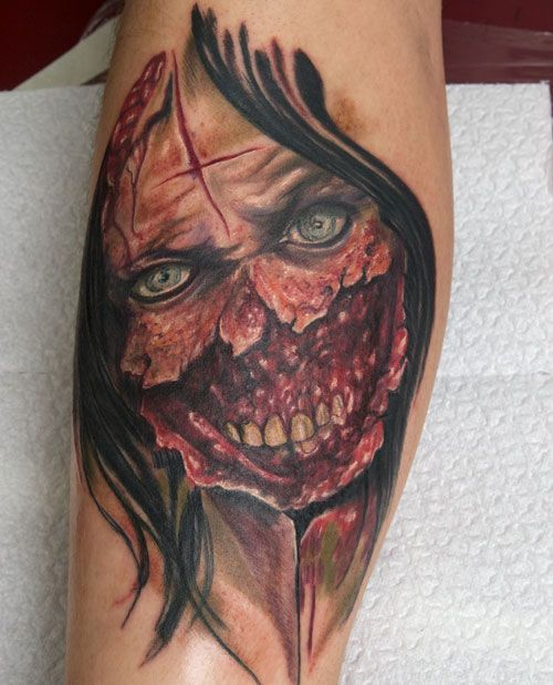 Tattoo Woman Zombie: Http://heledis.com/scary-and-unique-zombie