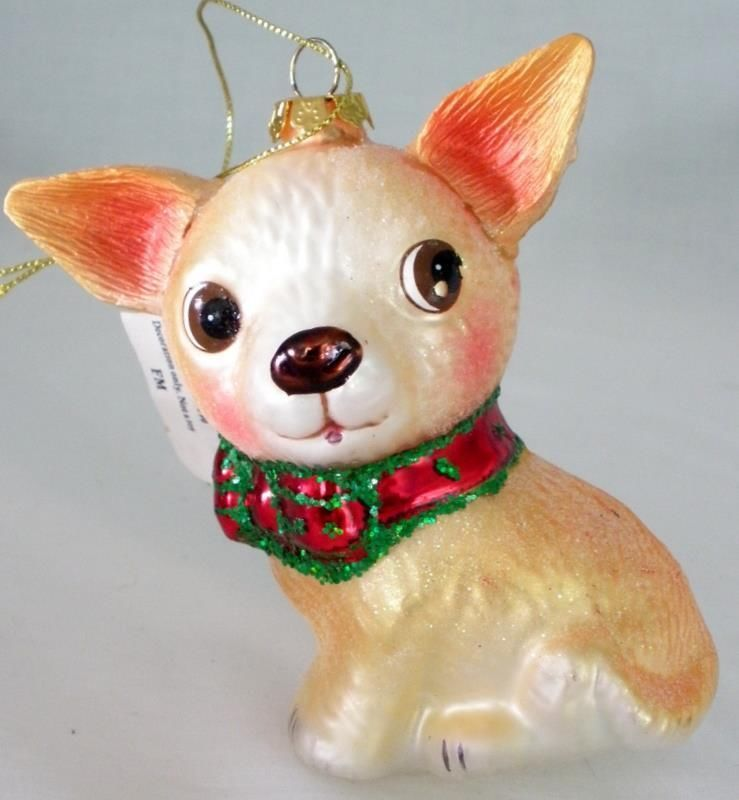 Chihuahua Blown Glass Ornament Made By Cbocs Distribution My Ebay