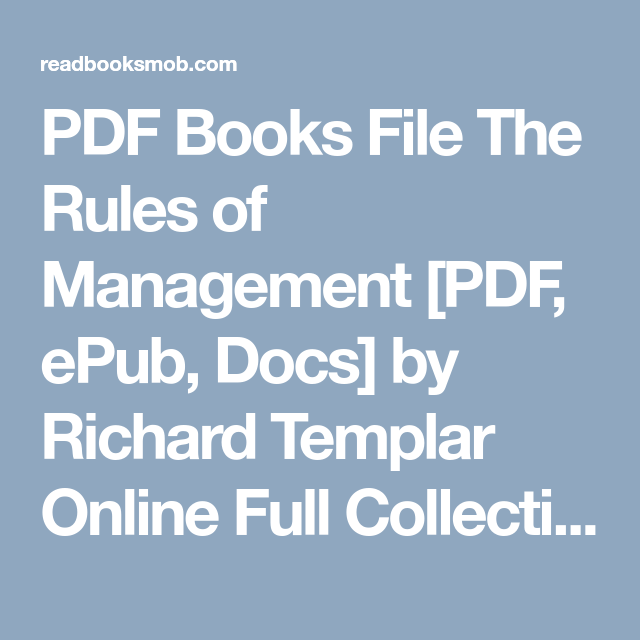 Pdf books file the rules of management pdf epub docs by richard pdf books file the rules of management pdf epub docs by richard fandeluxe Choice Image