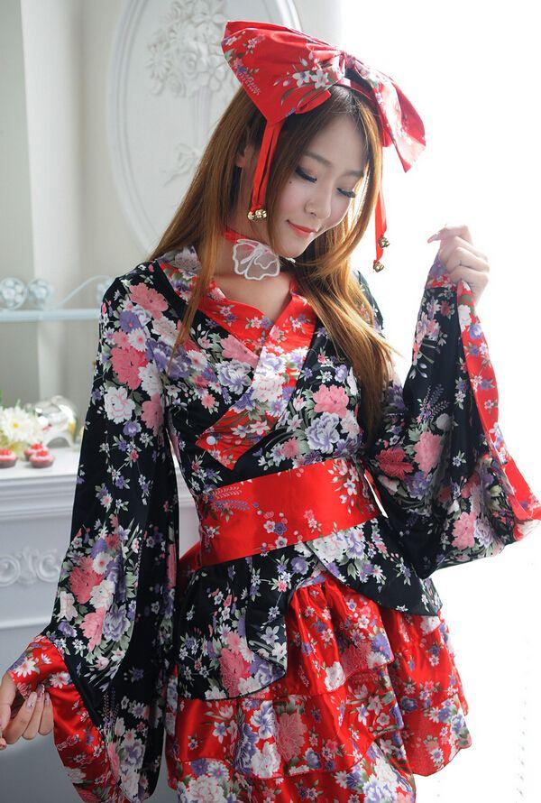 38c226e75 Sakura Kimono Cosplay de anime traje de mucama Kimono japonés vestido  Lolita princesa de Halloween Cosplay en Ropa de Novedad y de uso especial  en ...