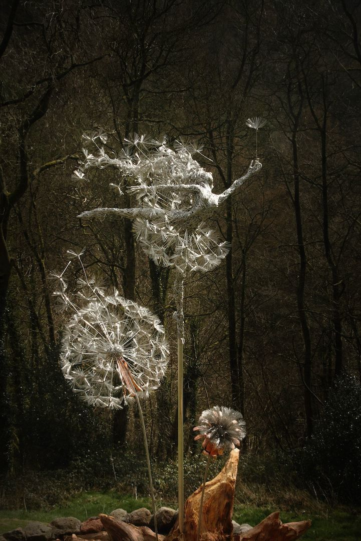 Incredibly Dynamic Steel Wire Fairy Sculptures Dance In The Wind