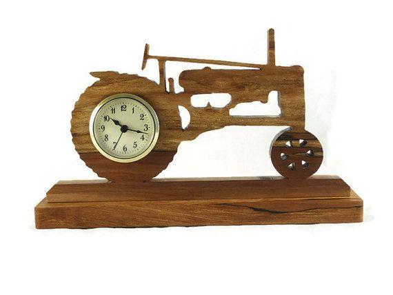 Antique Style John Deere tracteur Desk / horloge de par KevsKrafts