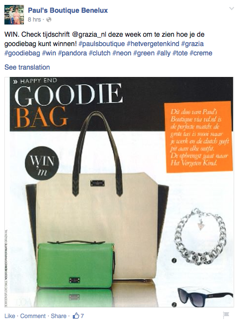 Over in Benelux, our Paul's Boutique team secured amazing coverage in Grazia on the 'goodie bag' page. Amazing! >> https://www.facebook.com/PaulsBoutiqueBenelux #paulsboutique #grazia