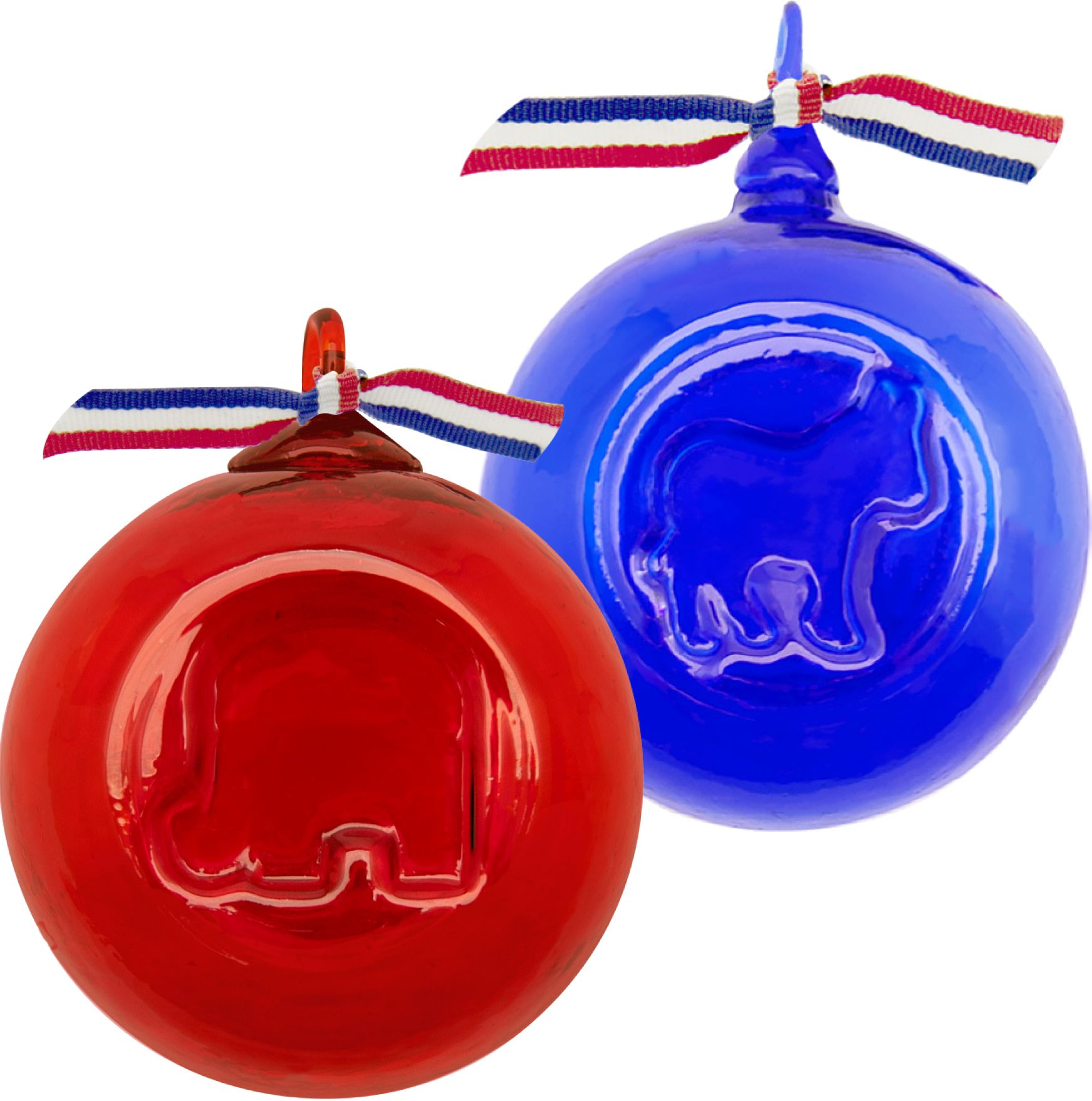 Donkey ornaments - New And Just In Time For This Election Year Political Elephant And Donkey Ornaments