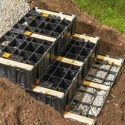 Amenager Son Jardin Installer Un Escalier Droit En Kit Amenagement Jardin Escalier Droit Amenagement Jardin En Pente