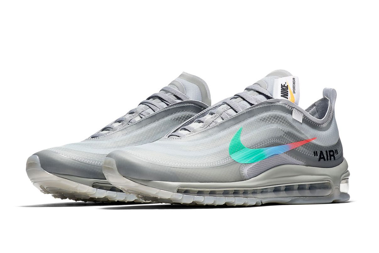 """7b79970dd8931 Official Images of the Off-White™ x Nike Air Max 97 """"Menta"""" Surface ..."""