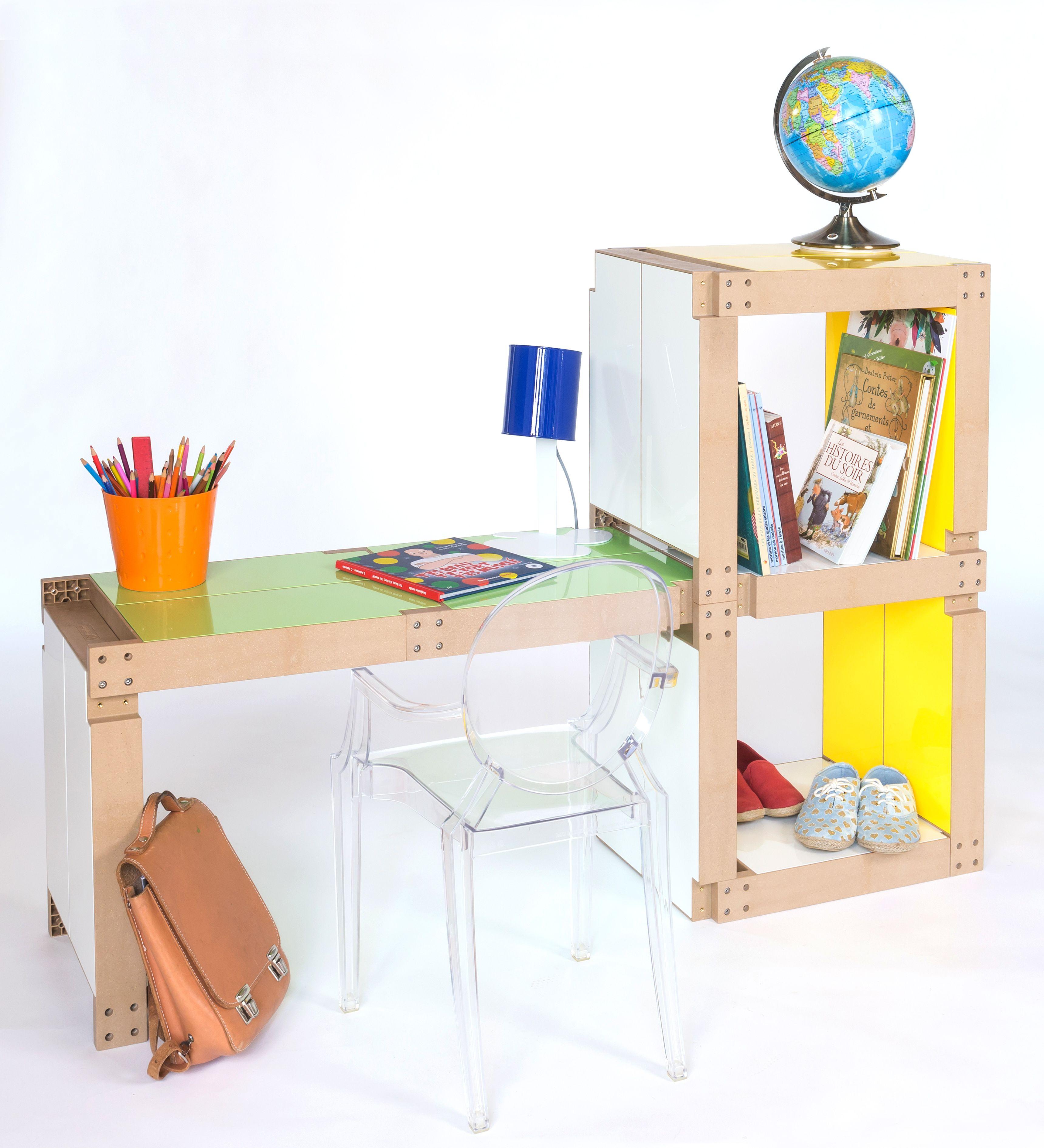 10 lems suffisent à créer ce joli #bureau pour #enfants ! un #meuble