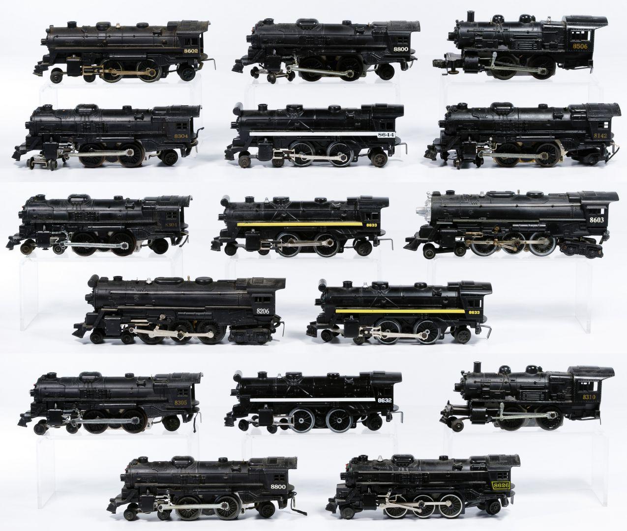 Lot 232 Lionel Model Train Engine Assortment Sixteen Trains Including 8142 8206 Two 8304 8305 8310 8506 8602 860 Model Trains Train Locomotive