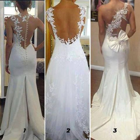 Wedding Dress With Back Out Features Formal Dresses