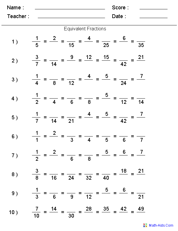 Fractions Worksheets – Fraction Problems with Answers Worksheet