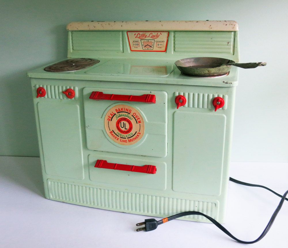 1950s Little Lady Green Electric Working Toy Stove Antique Toys Vintage Toys Old Toys