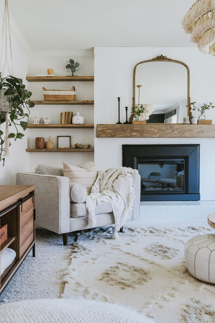 DIY Modern Wood Mantle - Jessica Sara Morris