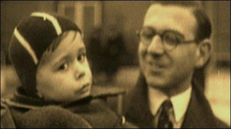 Nicholas Winton and a refugee child. Nicholas Winton coordinated the Czech Kindertransport, saving 669 children from the Nazi regime.